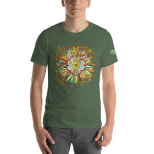 T-shirt Unisexe HTF 2020 Flower - Vert Forêt Chiné / Heather Forest