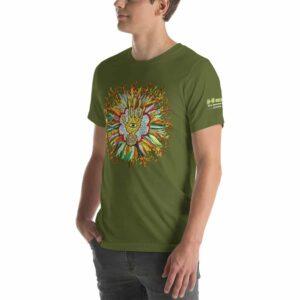 T-shirt Unisexe HTF 2020 Flower - Vert Olive
