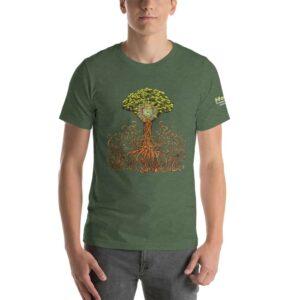 T-shirt Unisexe HTF 2020 Tree - Vert Forêt Chiné