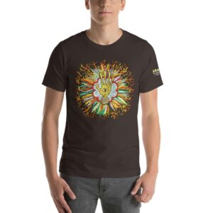 T-shirt Unisexe HTF 2020 Flower - Marron / Brown