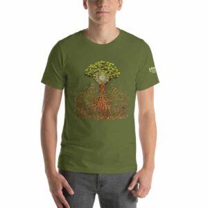 T-shirt Unisexe HTF 2020 Tree - Olive