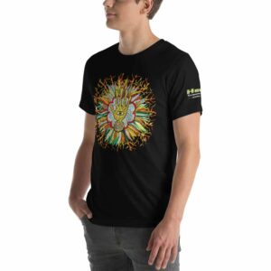 T-shirt Unisexe HTF 2020 Flower - Noir / Black